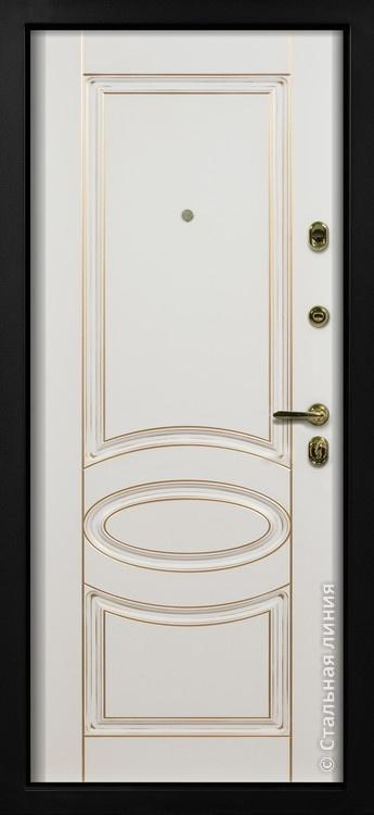 входные двери внутри белая